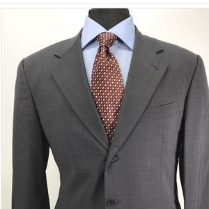 Pal Zileri 40R Metallic Gray 3 Button Wool Sport